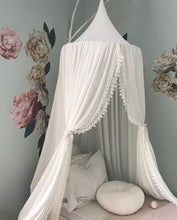 Lace Bed Canopy -White (D-155)
