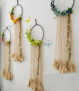 Floral Macrame Dream catcher (D-159)