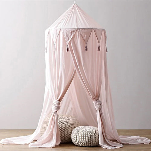Tassel Bed Canopy -Pink (D-170.1)
