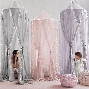 Tassel Bed Canopy -Grey (D-170.3)