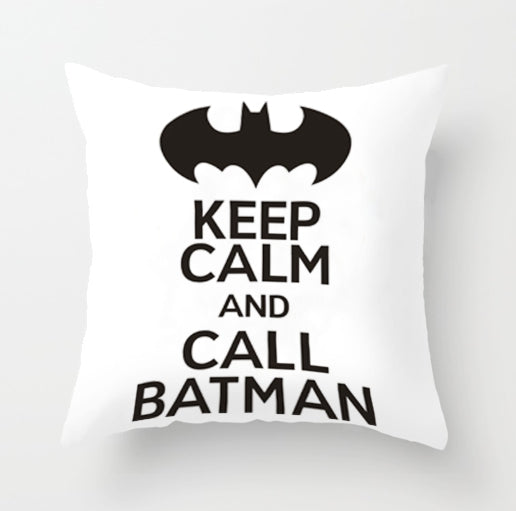 Decor - Black and White Batman  Cushion cover  No. 1 (D-24)