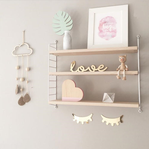Decor- Wooden Wall Baby Mobile - Rain drops (D-5.2)