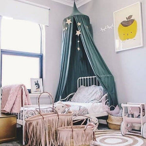 Cotton Bed Canopy - Green (D-62)