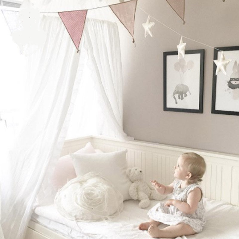 Cotton Bed Canopy -White (D-60)