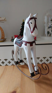 Retro Rocking Horse- White No.1 (D-67)