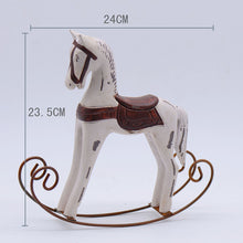 Retro Rocking Horse- White No.2 (D-72)