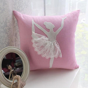 Ballet Girl Decorative Cushion Cover No.3 (D-76)