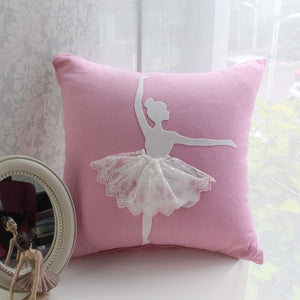 Ballet Girl Decorative Cushion Cover No.5 (D-78)