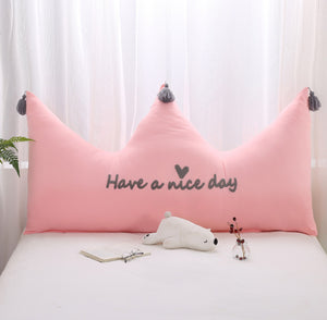 Princess Crown 1.5m Pillow case ( Pink/white/Grey) - (B-84)