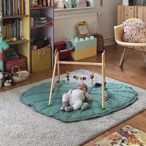 Baby play mat - Leaf - Green (D-90.1)