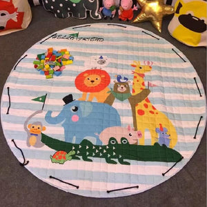 Baby play mat / Toy bag -Zoo Friends  (D-97)
