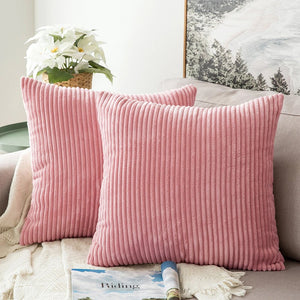 Corduroy Velvet Cushion Cover-Pink (DC-153)