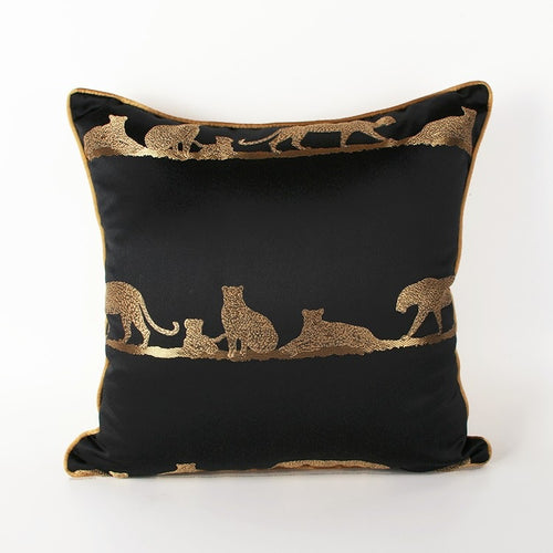 Luxury embroidered Leopard  Decorative Cushion Cover  (DC-186)