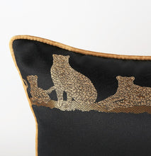 Luxury embroidered Leopard  Decorative Cushion Cover  (DC-186A)