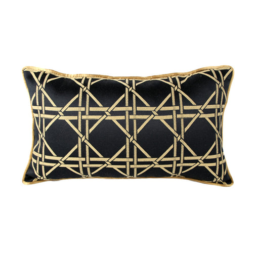 Luxury Geometric Black&Gold  Decorative Cushion Cover  (DC-187a)