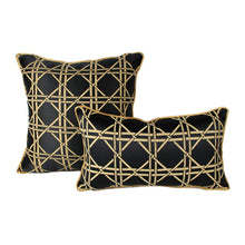 Luxury Geometric Black&Gold  Decorative Cushion Cover  (DC-187)