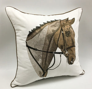 Luxury Cushion Cover - Horse Head Embroidered  (DC-200)