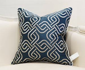 Decorative Embroidery  Luxury Cushion Cover - Blue (DC-205)