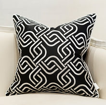 Decorative Embroidery  Luxury Cushion Cover - Black (DC-206)
