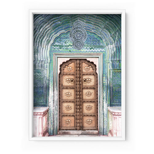 Peacock Doorway in Jaipur City Palace  - Art Print -   (A-849DTR11)