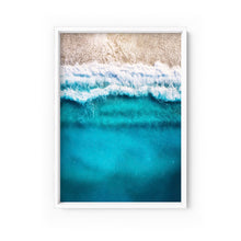 Wall art- Sandy Beach Look From Above- Framed/ Unframed Art print (A-578)