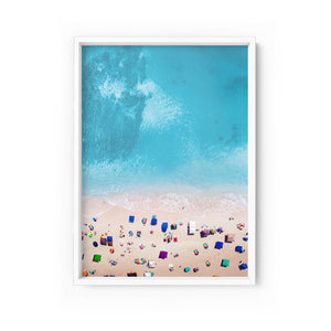 Wall art- A Day at the Beach - Look From Above- Framed/ Unframed Art print (A-613)