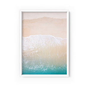 Wall art- Sandy Beach from the Air - Framed/ Unframed Art print (A-614)