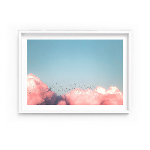 Wall art-  Above The Clouds In Blush-  Framed/ Unframed Art print (A-620)