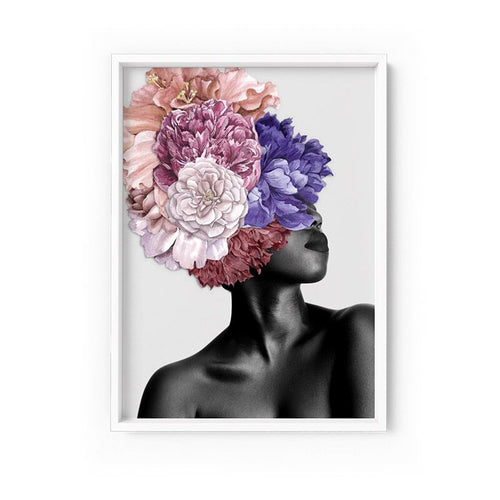Wall art- Floral Crown II - Framed/ Unframed Art print (A-710)