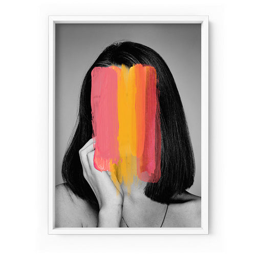 Washing over her - Art Print -  (Framed/ Unframed)- (A-854HPS33)