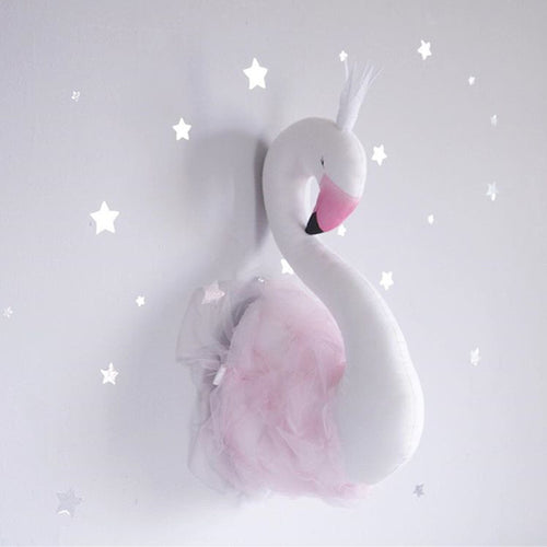 Decor -  Handmade Swan/ Flamingo Stuffed Wall Decoration- Pink (D-9)