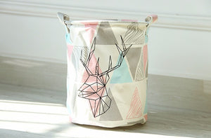 Storage /Decor - Geometric Deer Pattern Storage Basket (S-4)