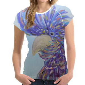 Short sleeve Woman's T-shirt  2 sides print-Colorful Cockatoo  (G-T-53)