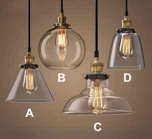 Lighting- Vintage / Retro Glass Pendant Light (L-2)