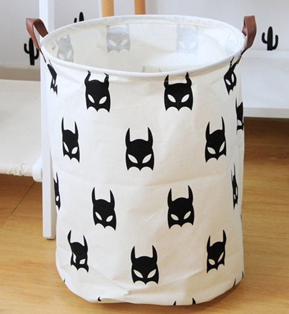 Storage / Decor- BatMan Waterproof Laundry Basket /Storage Basket (S-2)