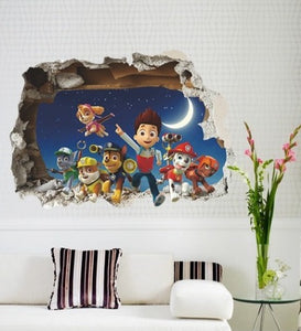 Wall Stickers Decor -  3D  Paw Patrol Wall Stickers (W-11)
