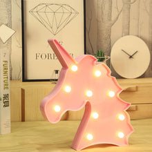 Lighting - Unicorn LED light / Kids Night light (Pink / White) (L-25)