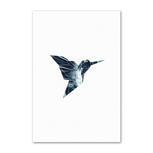 Wall Art - Hummingbird Nordic style print on canvas (A-5)