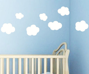 Wall stickers Decor -7 pcs Clouds  Wall  Decals (W-10)