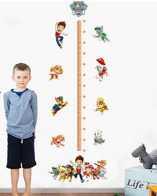 Wall Stickers Decor -  Paw Patrol Height chart Wall Stickers (W-12)