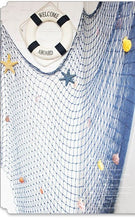 Decor - Blue/White Decorative Fishing Net with shells (D-10)