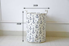 Storage /Decor - Marine Waterproof Clothes/ Toys Basket No.1 (S-6)
