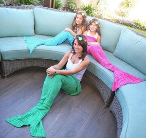 Mermaid knitted Tail Blanket - Throw blanket (B-5)