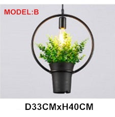 Lighting -  Modern Plant Pendant Light Fixture (L-10)