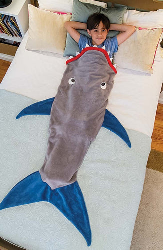 Kids Shark Fleece Sleeping bag blanket (B-7)