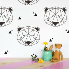 Wall Stickers Decor - High-quality Wall Decal Geometric Bear Nordic Style (W-15)