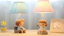 Lighting - Lovely Pink Girl & Teddy table lamp (L-17)