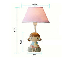 Lighting - Lovely Blue  Girl table lamp (L-18)