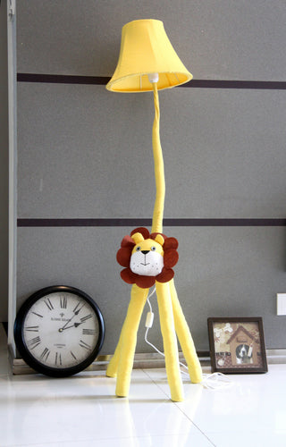 Lighting - Kids floor lamp Yellow Lion (L-32)