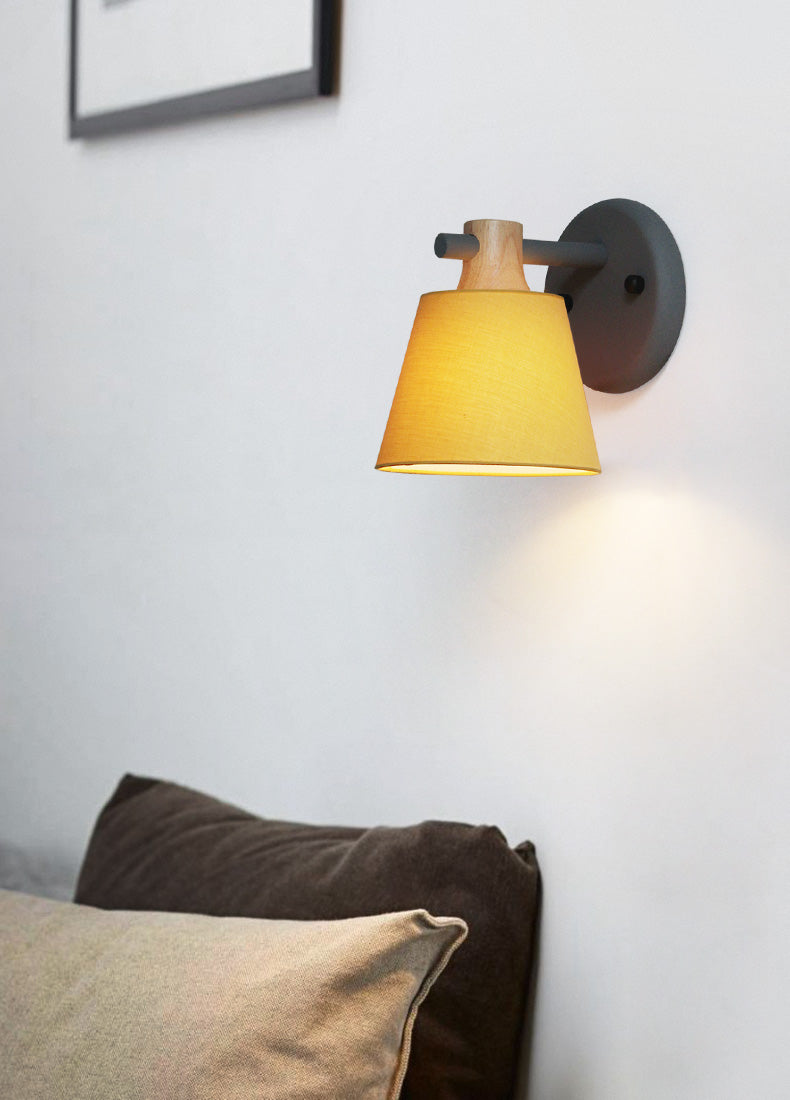 Lighting -Contemporary Metal & Wood Wall Lamp (L-38)